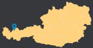 Position Vorderhornbach auf Österreich Landkarte